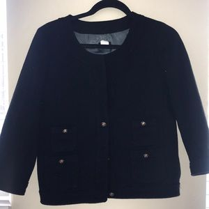 JCREW WOOL BLAZER WITH GOLD BUTTONS